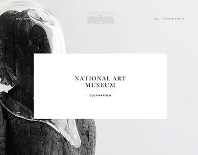 Museum of Art Cluj Napoca Website Redesign Concept