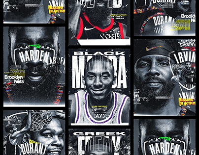 NBA Grunge Posters