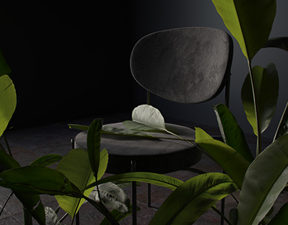 Chair in palms