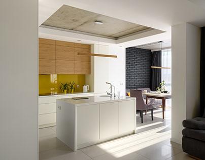 """YELLOW PENTHOUSE"" apartment design"