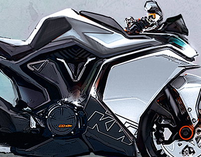 KTM RC8 Concept, Sketching.