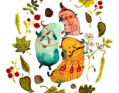 Cover design of fictional magazine for children