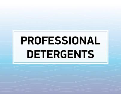 Professional detergents catalog