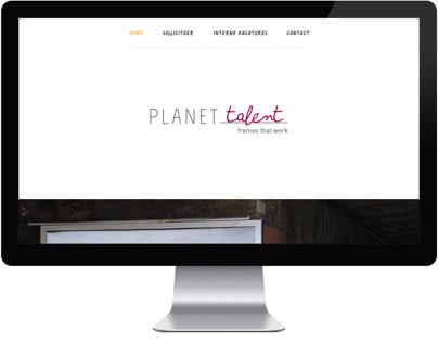 Planet Talent - UX/UI Design (onepage)