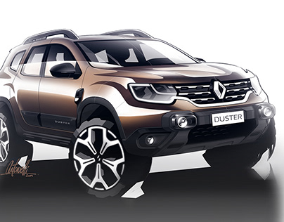 Renault Duster - Press Sketches