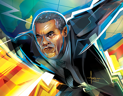 OBAMA ATLAS- Foreign Affairs Mag Cover - vector