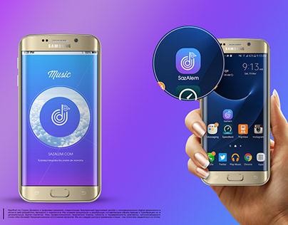 Интерфейс и логотип мобильного приложения