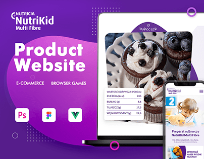 Nutrikid - product website, e-commerce & browser games