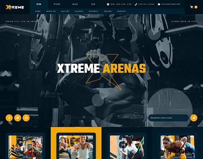 Xtreme - Gym Ecommerce Website Template