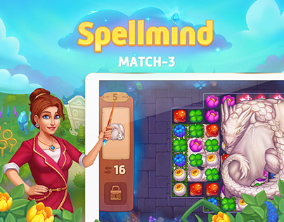 Spellmind Match-3 visual