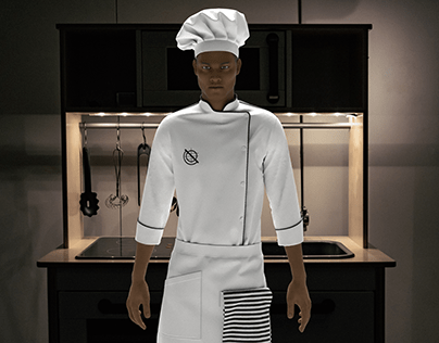Chef uniform created on CLO 3D