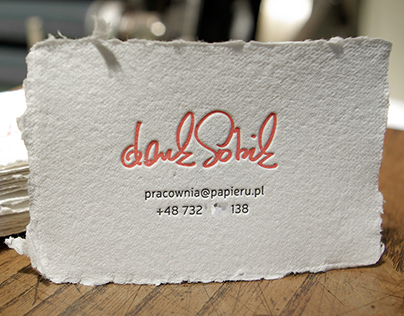 letterpress i papier czerpany | handcrafted paper