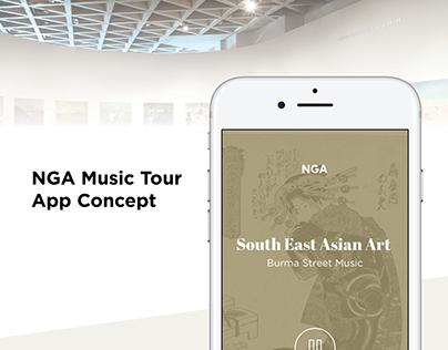 NGA Music Tour App Concept