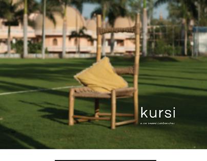 kursi: A low seated bamboo chair