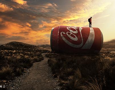 Ambientação lata coca