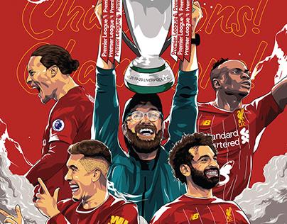 Liverpool winning the Premier League trophy