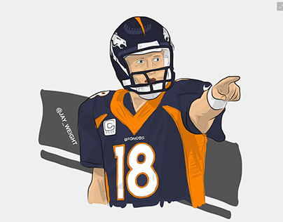 peyton manning coloring pages broncos