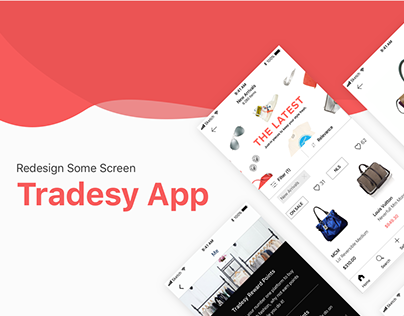 Redesign Some Screen UI Tradesy App