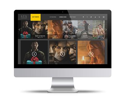 STX Entertainment - EPK UiUX Design
