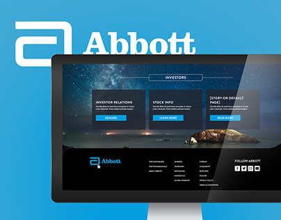 Abbott.com Redesign 2017