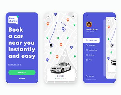 Car Sharing Mobile App, UI/UX Design
