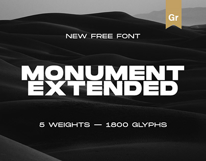 Monument Extended — New Free Font