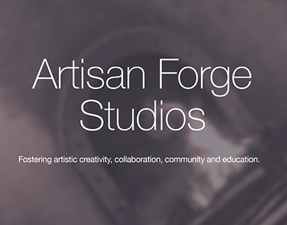 Artisan Forge Studios Web Design