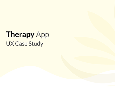 Therapy_Case Study