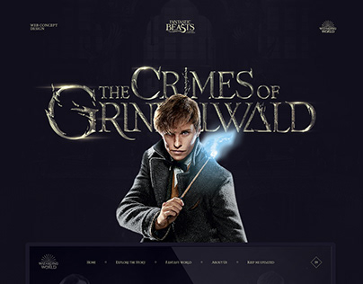 Fantastic Beasts: The Crimes of Grindelwald web concept