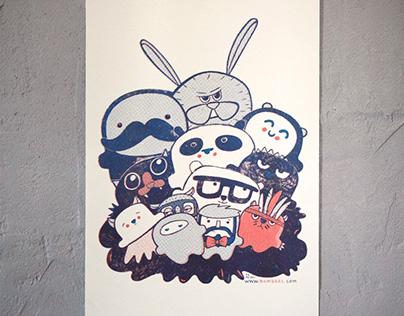 Bambaks Riso Poster