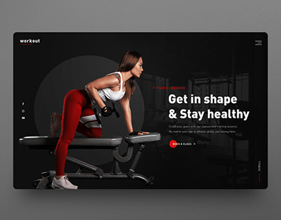 Fitness website UI design