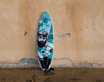 The Lost Sailor — Surfboard Graphic