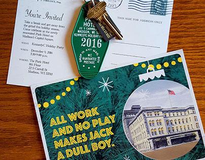 "KennedyC ""Shining Themed"" Holiday Invite"