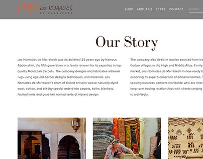 Les Nomades de Marrakech Website Design