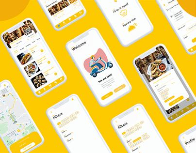 Holly food app UX/UI