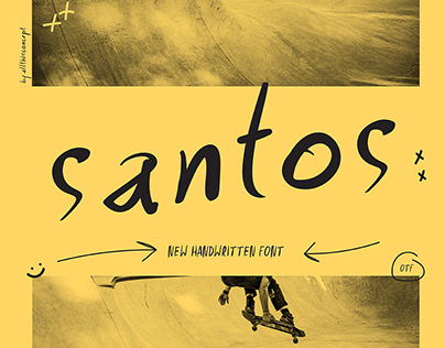 SANTOS Handwritten font