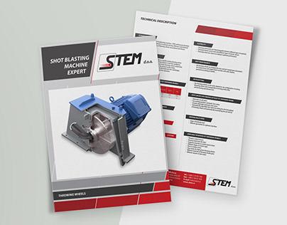 Graphic design for client - Product leaflet #stem