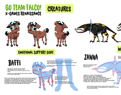 Go Team Falco! - Creature Design