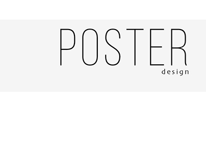 Various poster design projects