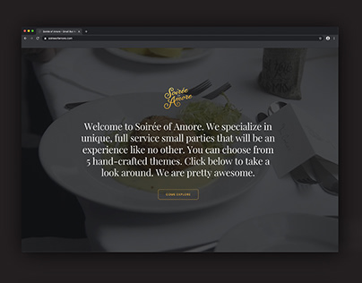 Soirée of Amore - Logo and Website Design