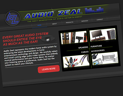 Austin, TX Audio/Video Company Website Re-Design