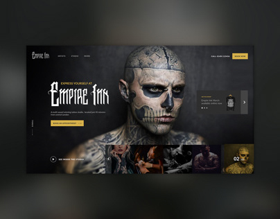 Tattoo Shop - Landing page concept