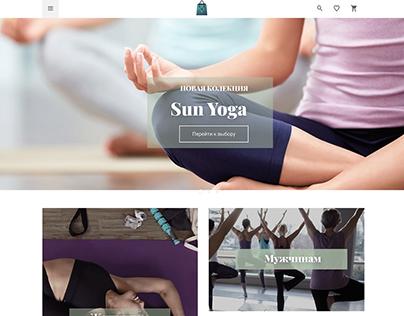 Yoga website shop design