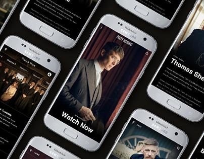 Peaky Blinders App Design
