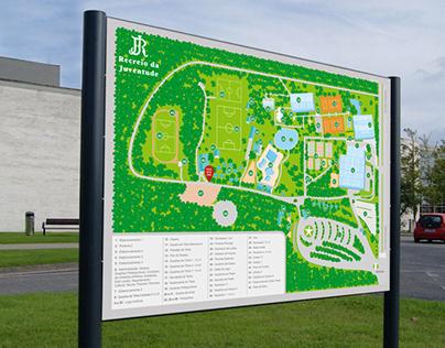 Arte digital para mapa de localização