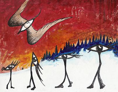 The Walking Eyes » Illustration