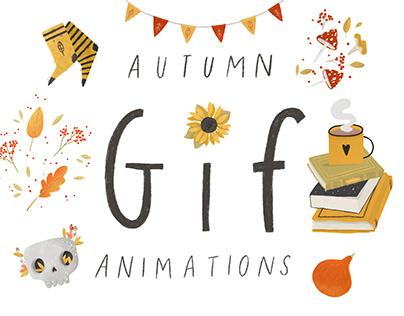 Autumn sticker pack - INSTAGRAM (Giphy)