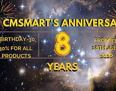 CMSMart's 8TH ANNIVERSARY
