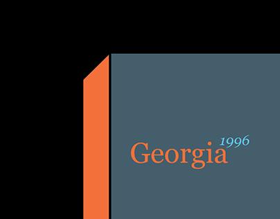 Georgia Type Specimen Book