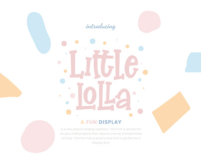 LITTLE LOLLA FUN DISPLAY - FREE FONT